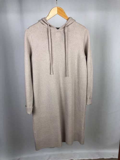 S.MARLON Cashmere Hoodie-Kleid pearl (creme)