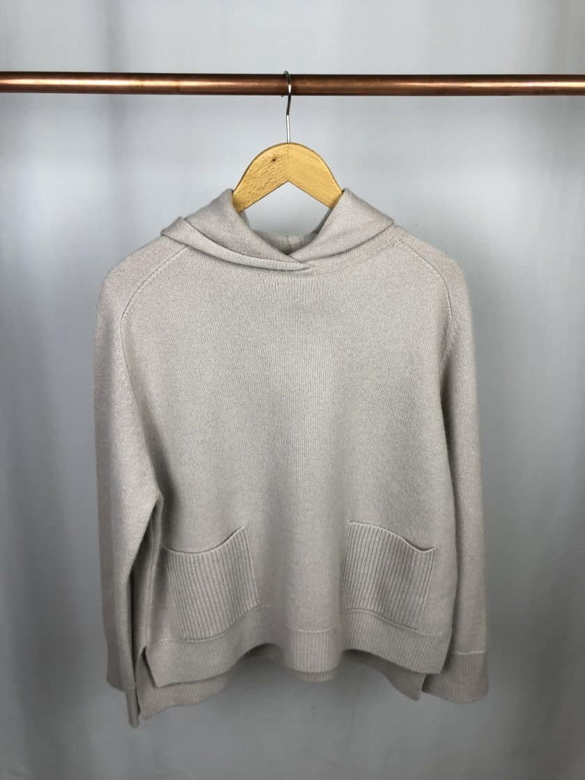 S.MARLON Cashmere Hoodie pearl (creme)