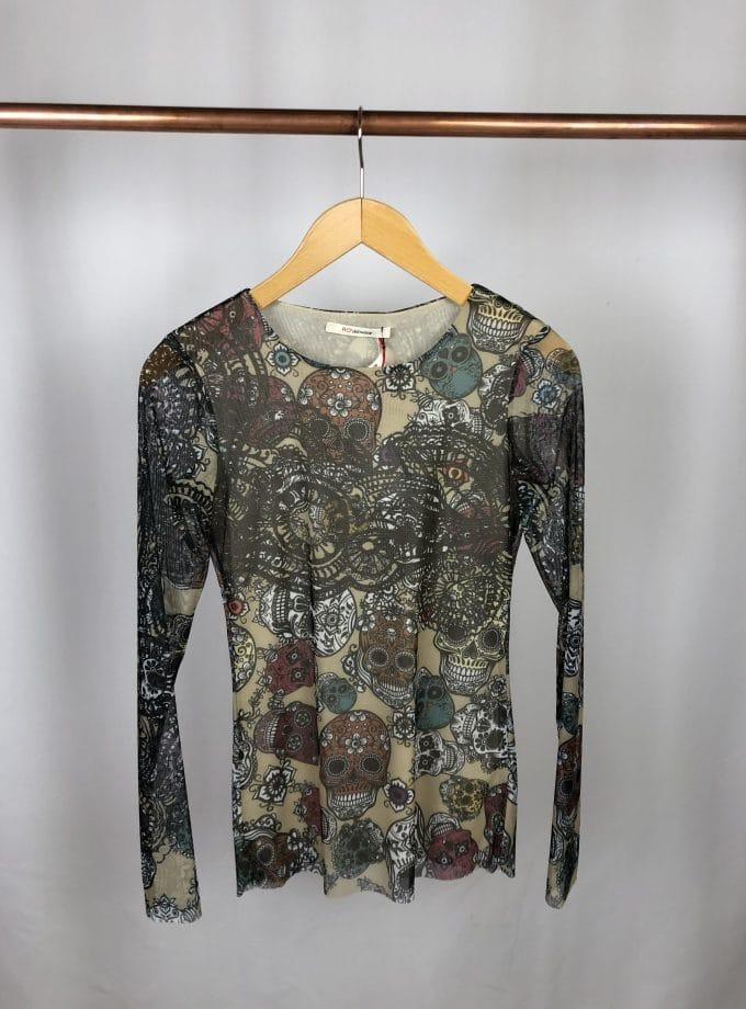 RO'S T-Shirt Merletto Tatoo-Muster