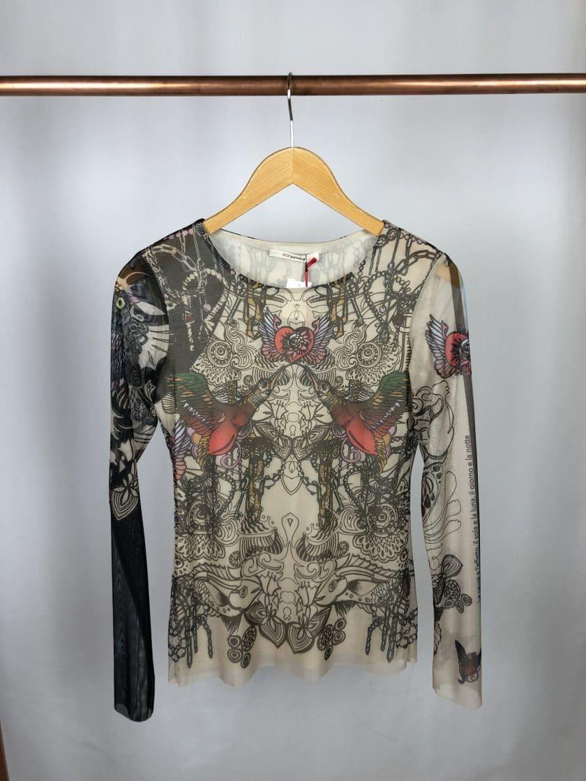 RO'S T-Shirt Good beige gemustert