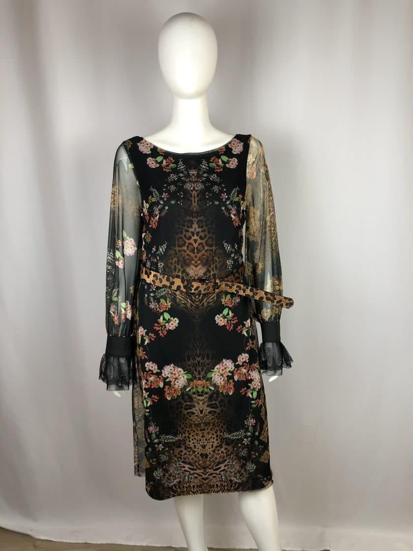 ANA ALCAZAR Kleid kurz Blume-Tiger-Muster