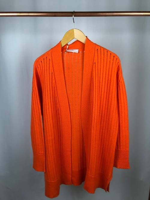 TABARONI Cashmere Strickjacke orange