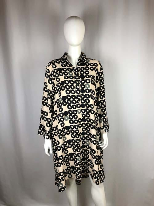 ANA ALCAZAR Kleid kurz beige-schwarz