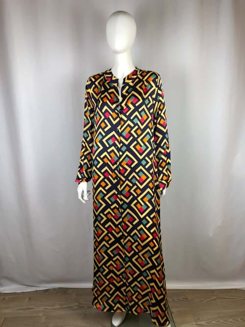 CONTROFIGURA Kleid lang Ornamentmuster
