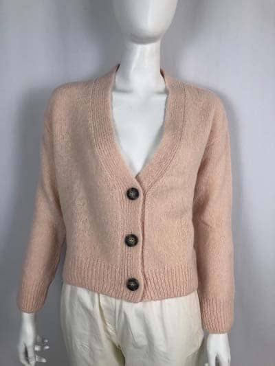 BLOOM kurze Strickjacke nude