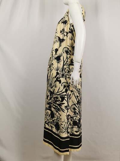 Ana Alcazar Kleid beige mit print