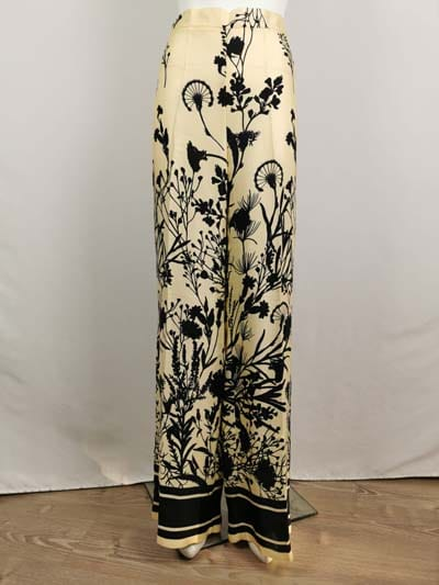 ANA ALCAZAR Stoffhose lang beige mit schwarzem Muster