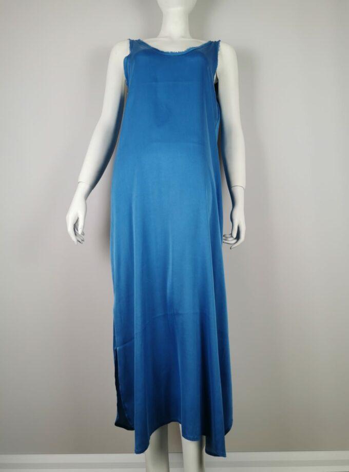 ME369 Kleid lang ocenblue
