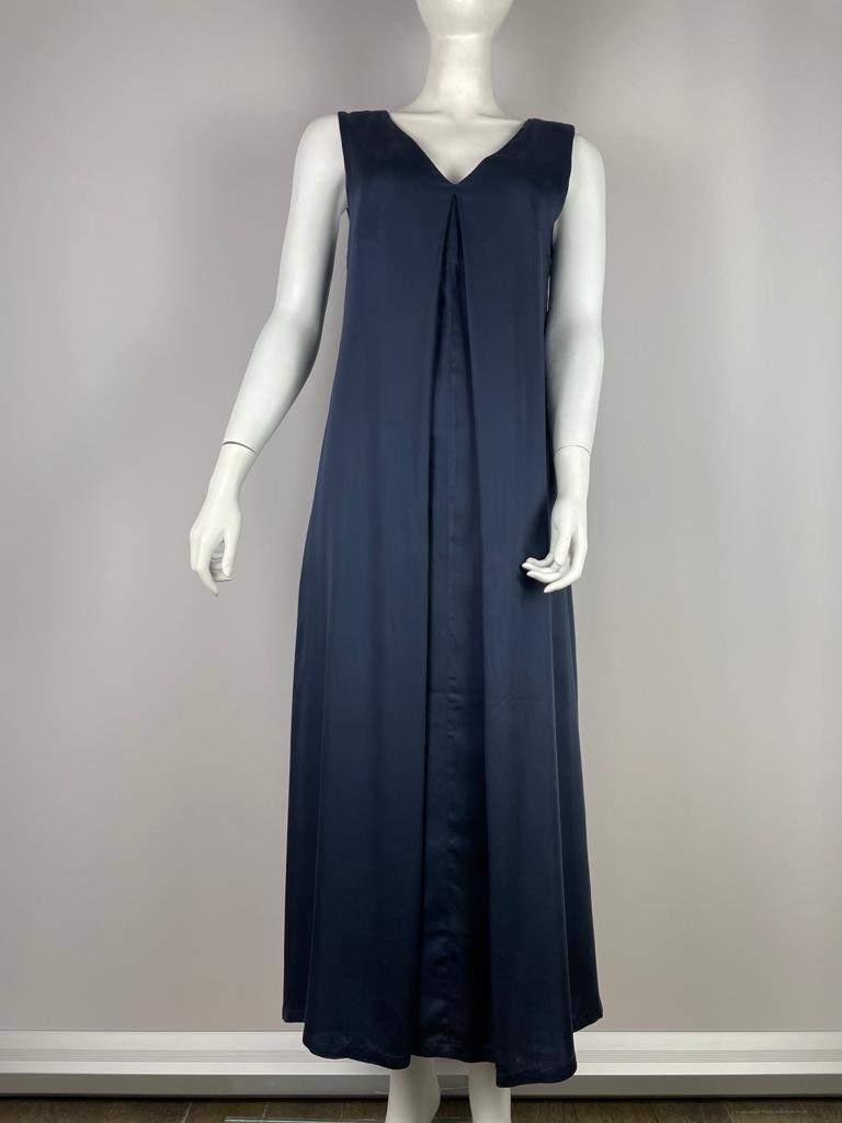 NEU NOMADS Kleid lang ärmelos dunkelblau