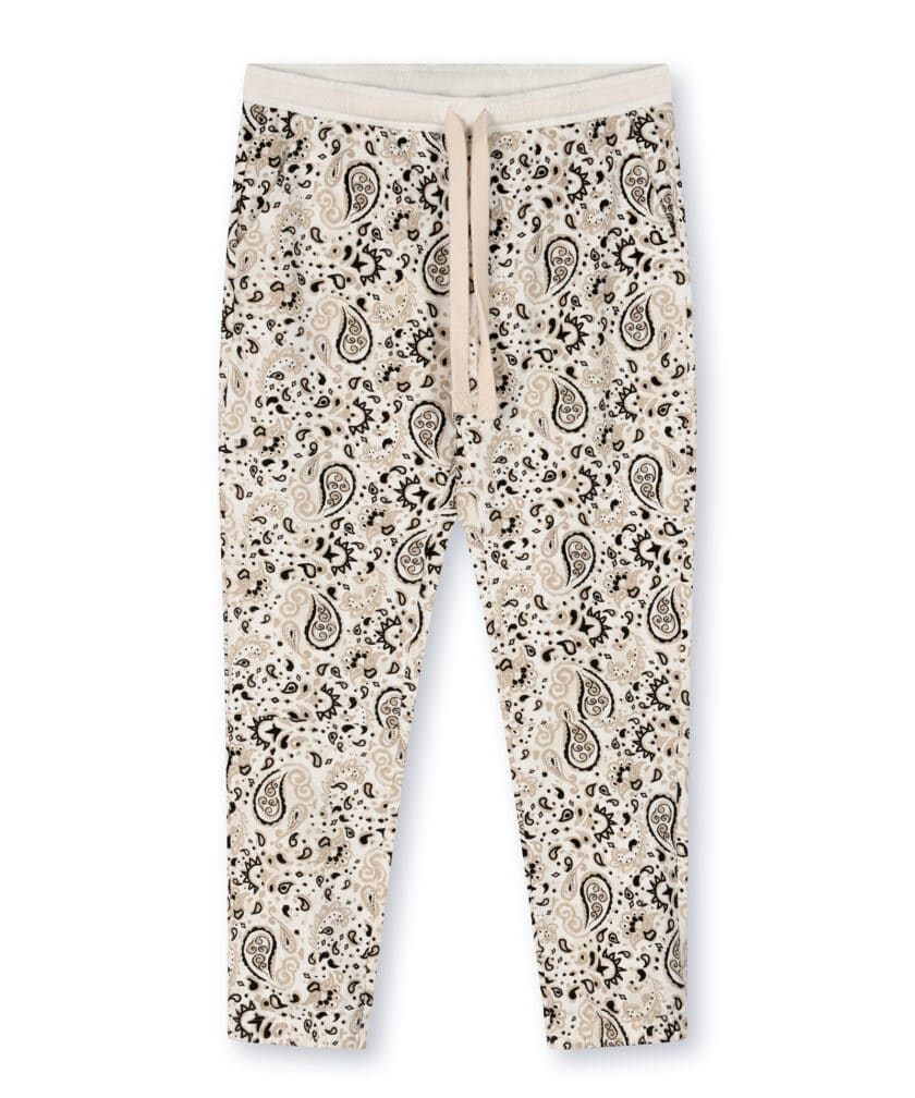 10 Days cropped jogger paisley