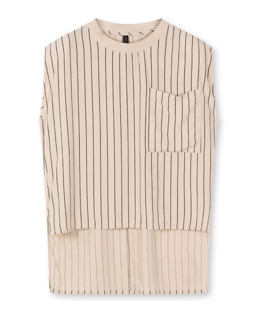 10 Days Shirt padded top pinstripe
